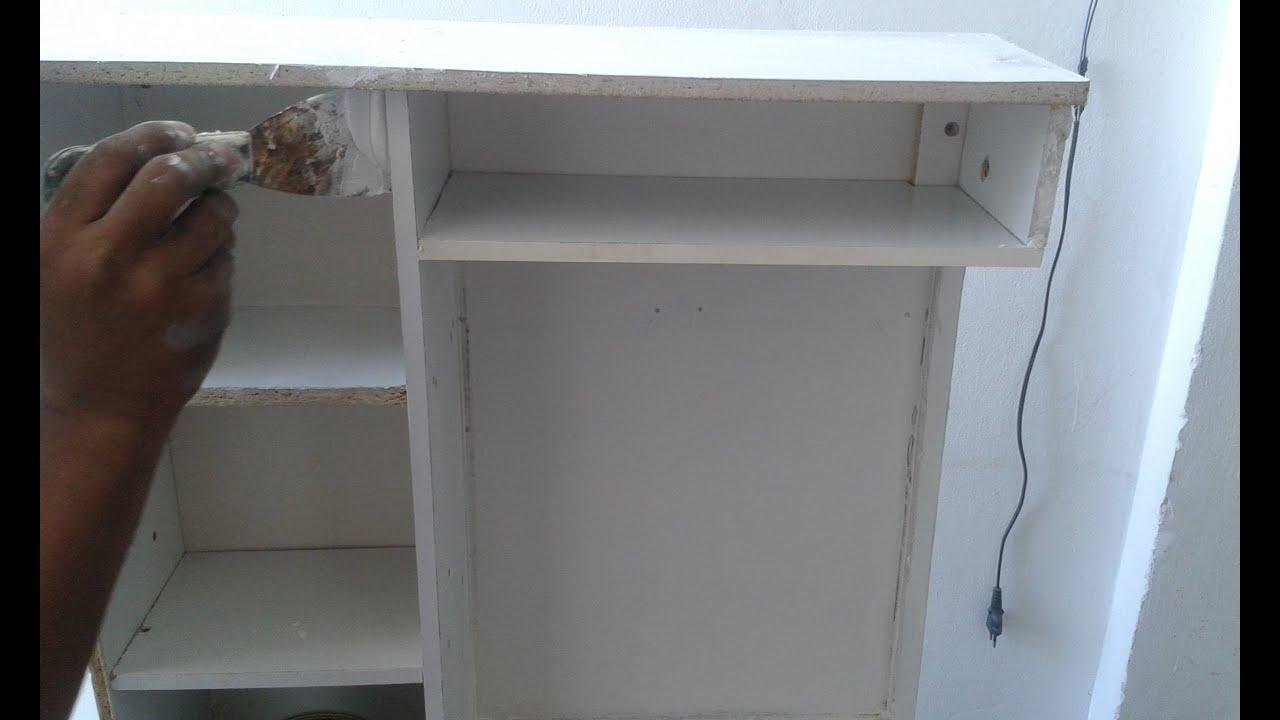 Fazendo armario de banheiro com madeira reciclada  YouTube -> Armario De Banheiro Amadeirado