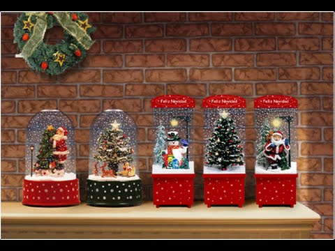 snowing christmas decoration with transparent case