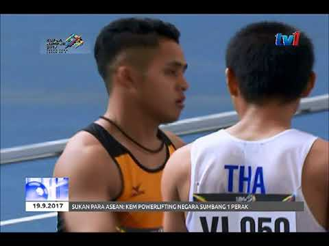 SUKAN PARA ASEAN 2017 - OLAHRAGA - EDDY DAN AISAH RAIH EMAS [19 SEPT 2017]