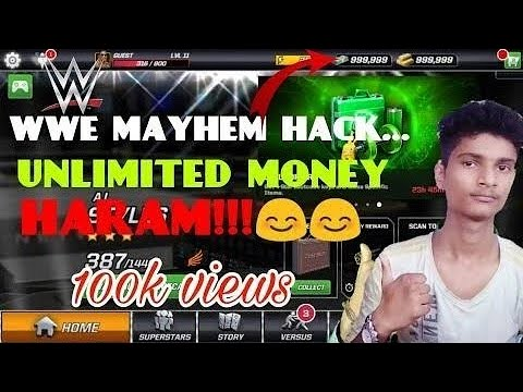 Unlimited Money And Character In Wwe Mayhem | Tech By Vineet | In Hindi