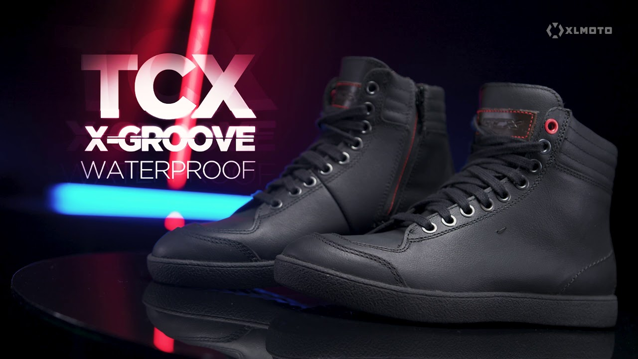 TCX Scarpe Stivali Moto 9556W X Groove Waterproof Nero tg 43