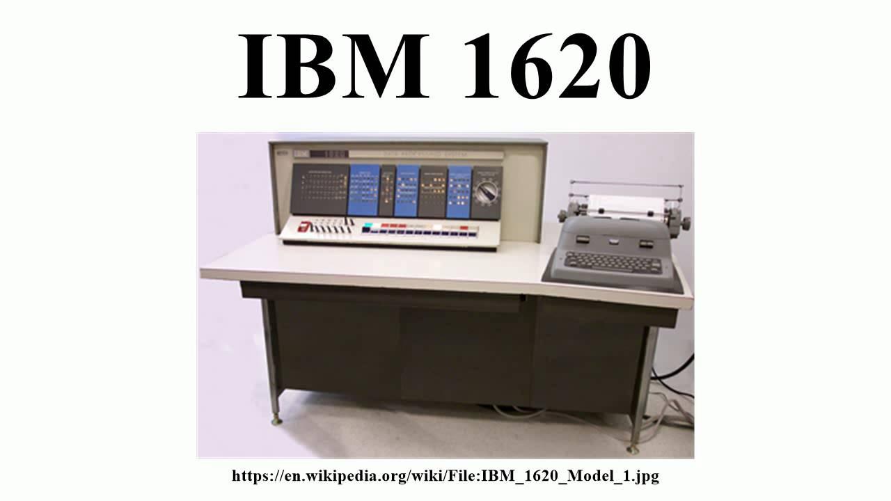 Ibm 1620 You