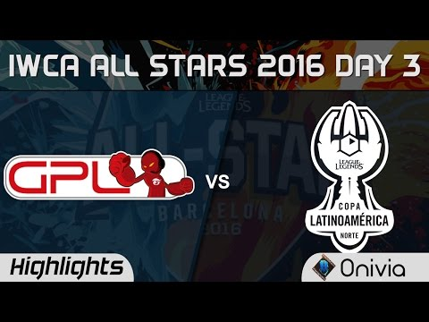GPL vs LAN All for One Highlights IWCA Barcelona 2016 D3 SouthEast Asia vs Latin America North