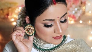 DEEPIKA PADUKONE Bangalore RECEPTION LOOK | Indian Bridal Makeup Tutorial