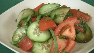 Tomato Cucumber And Basil Salad