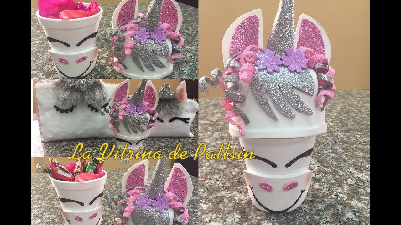 Dulceros de unicornio caja de regalo organizador for Diseno de mesa de unicornio