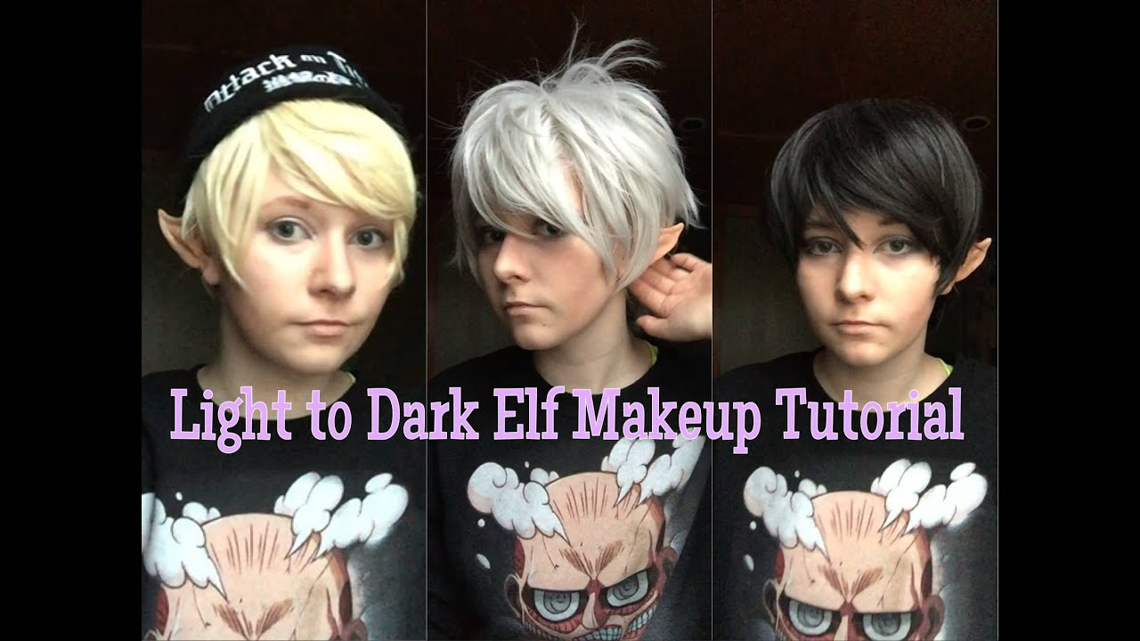 LIGHT ELF TO DARK MAKEUP TUTORIAL MALE OR FEMALE