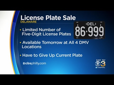 Delaware Selling Several Coveted 5-Digit License Plates