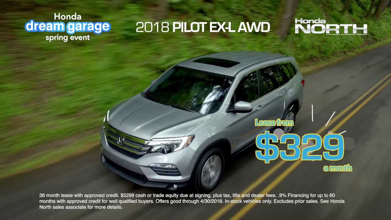 Spring Into Honda North For Savings On 2018 Pilots
