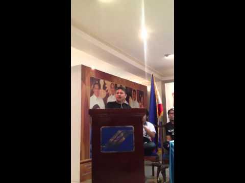 Pagbabahagi ni Atty. Gary Bonifacio, apo sa tuhod ni Gat Andres Bonifacio, Agosto 3, 2013.