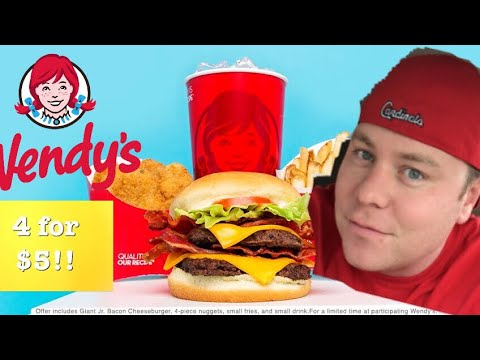 WENDY'S GIANT JR. BACON CHEESEBURGER REVIEW