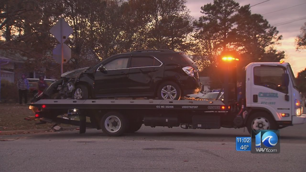 1 dead, 9 hurt in newport news multi-vehicle accident - youtube