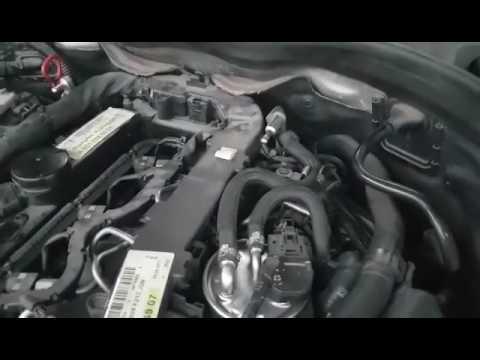 strange engine noise mercedes w212 e220cdi PART1