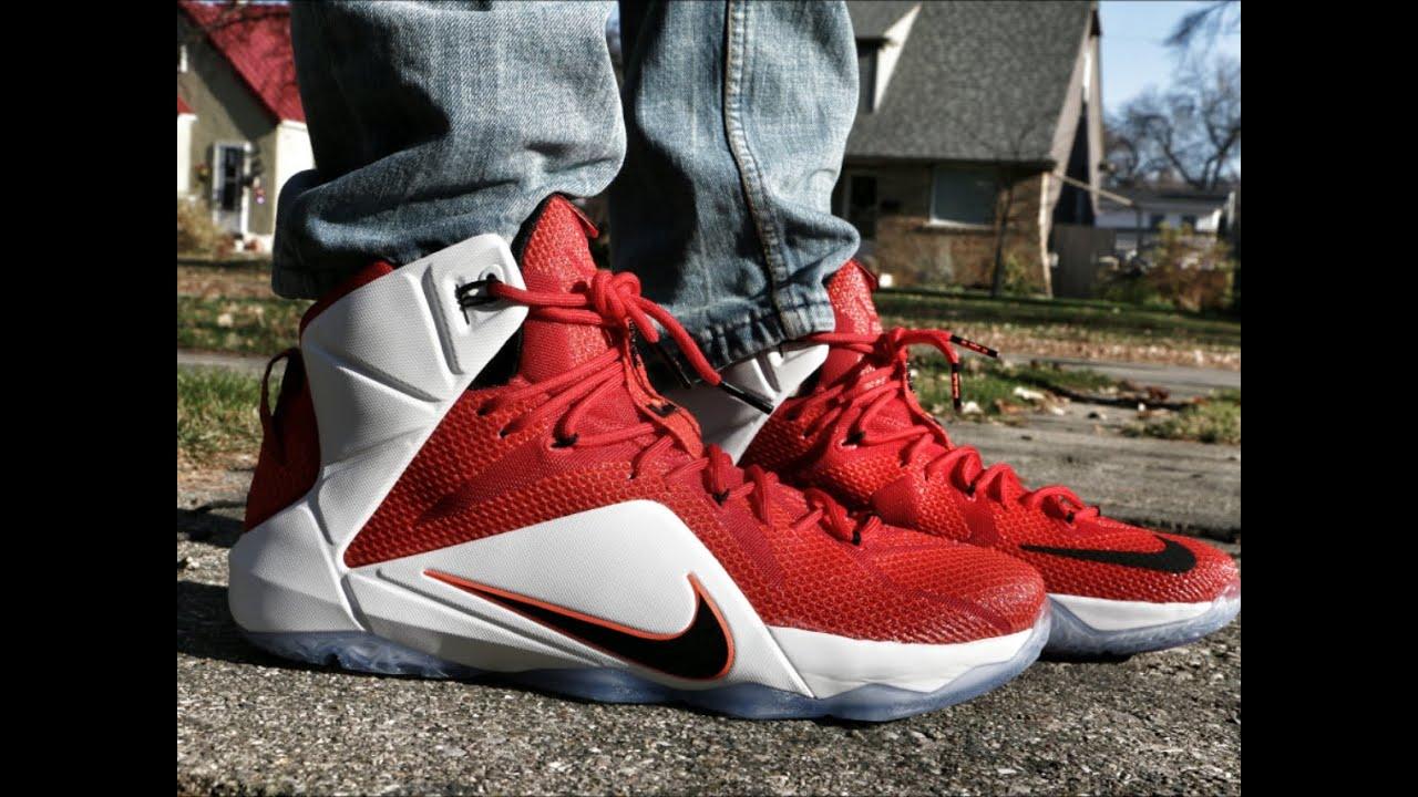 Nike LeBron 12 Lion Heart - On Foot - YouTube
