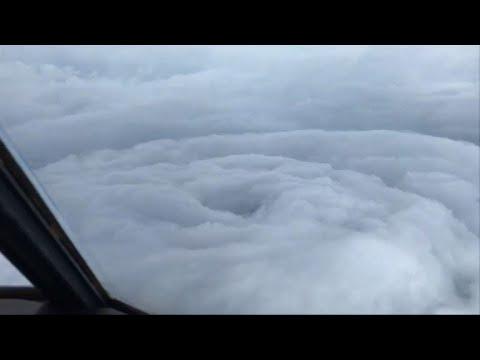 Eye of Hurricane Irma captured from above