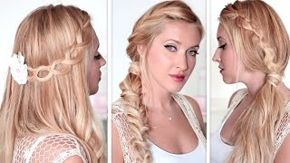 Cute and easy back to school hairstyles★ Lazy, last minute braids for medium/long hair tutorial