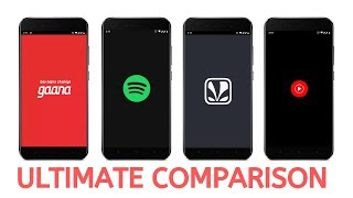 Gaana vs Spotify vs Saavn vs YouTube Music Ultimate Comparison Best Music App