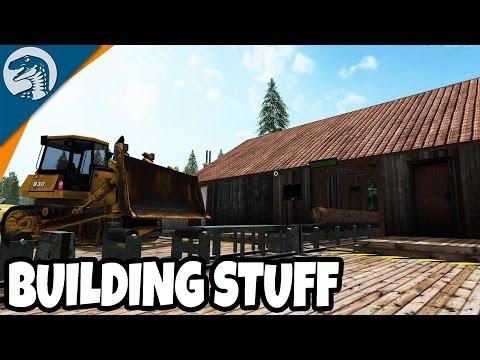 BUILDING NEW MILL & DEMOLITION CREW | Uncle Sam's Farm | Farming Simulator 17 Gameplay