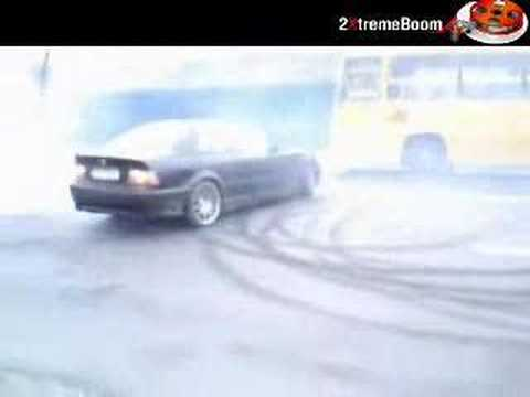 Car burnout Iraq vs Europe very funny