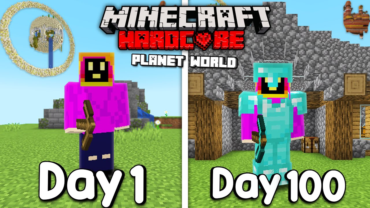 Download I Survived 100 Days On A Planet In Hardcore Minecraft...