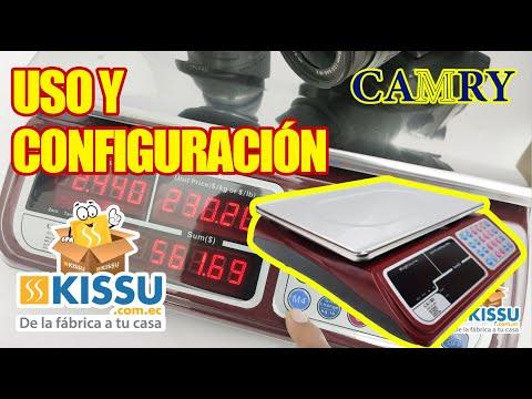 BALANZA  DIGITAL ACS-30KG/LB-JE31 CONFIGURACIÓN Y USO