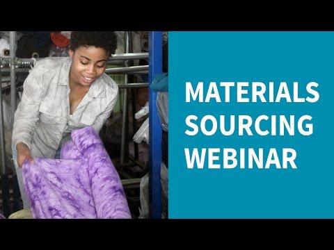 Material Sourcing Webinar