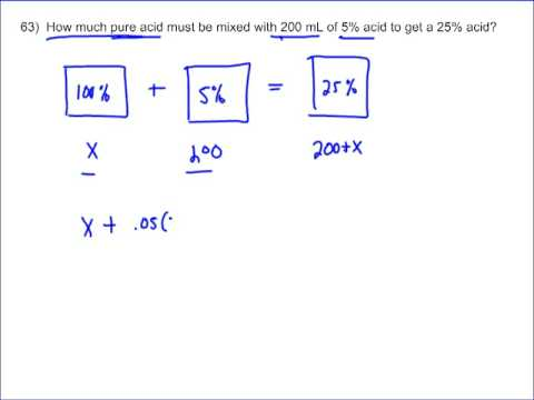Mixture Word Problems (solutions, examples, questions, videos)