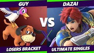 Smash Ultimate Tournament - Guy (Duck Hunt) Vs. Dazai (Roy) - S@X 306 SSBU Losers Bracket