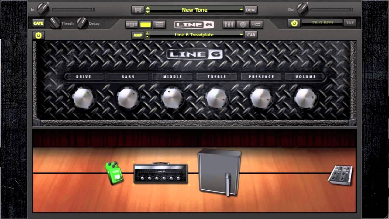 Playrock Pod Farm 2  Treadplate Mesa Boogie Triple Rectifier Ampeg Svt Demo Test