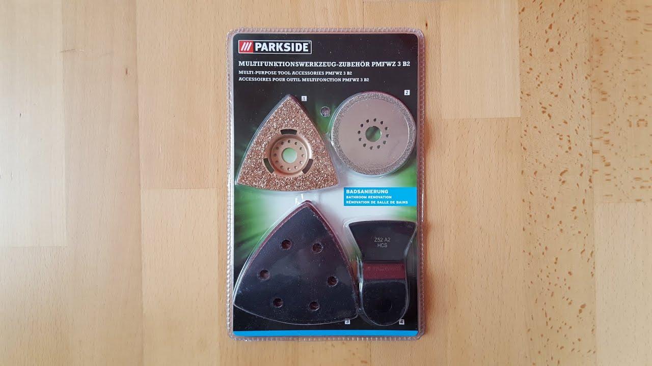 parkside pmfwz 3 b2 multifunktionswerkzeug zubeh r set schleifpapier unboxing 4k youtube. Black Bedroom Furniture Sets. Home Design Ideas