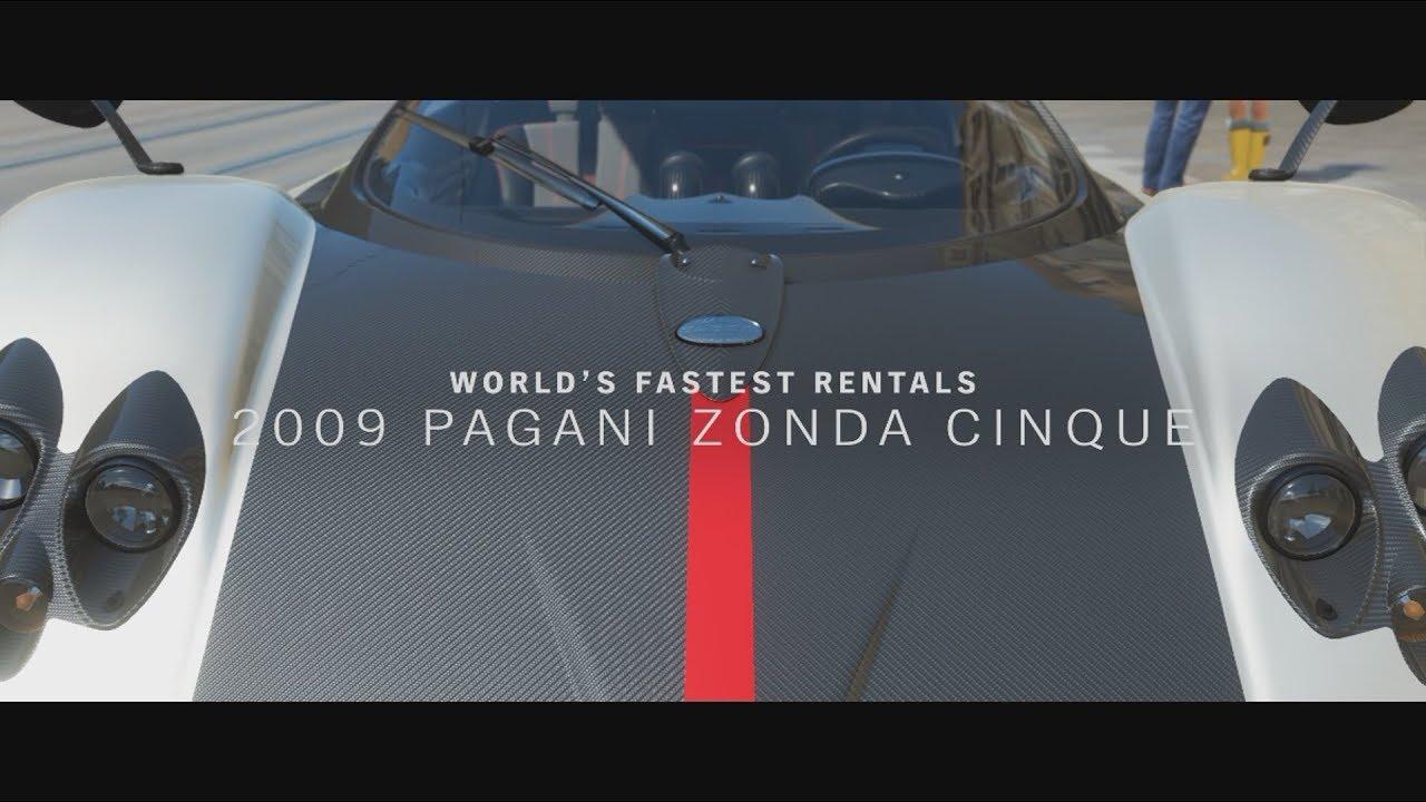 world's fastest rentals part 6/10: pagani zonda cinque (3 star race