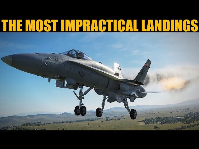 World's Most Impractical Aircraft Landings Session 1   DCS WORLD