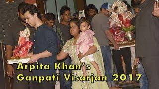 UNCUT- Arpita Khan's Ganpati Visarjan 2017 | Sohail Khan | Aayush Sharma | SpotboyE