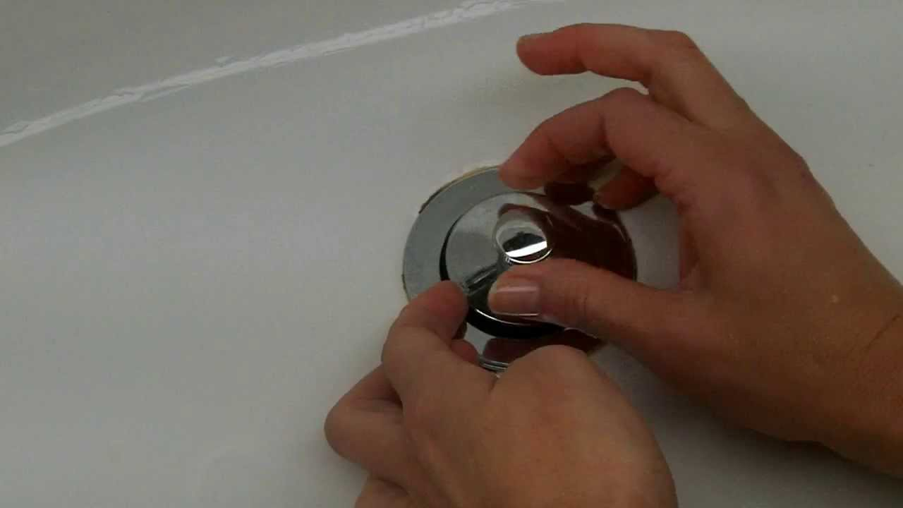 How To Remove A Pop Up Tub Drain Plug Stopper   Easy   No Screw, No Tools  Needed.   YouTube