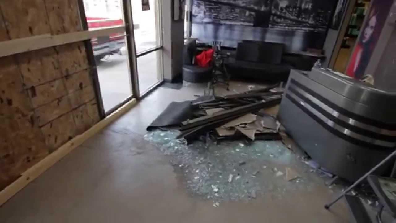 T Style Hair Salon Minneapolis: Damage From Car Crash Into BAM Style Hair Salon