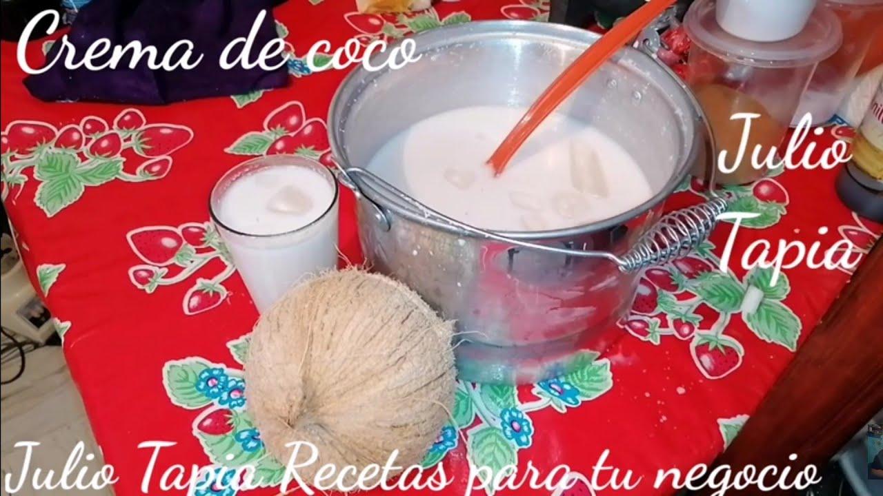 Crema de coco para negocio con solo 3 ingredientes