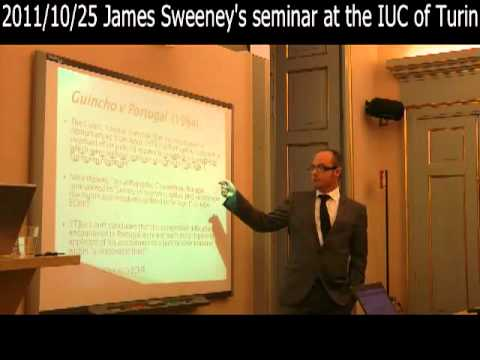 2011/10/25 James Sweeney's seminar at the IUC of Turin