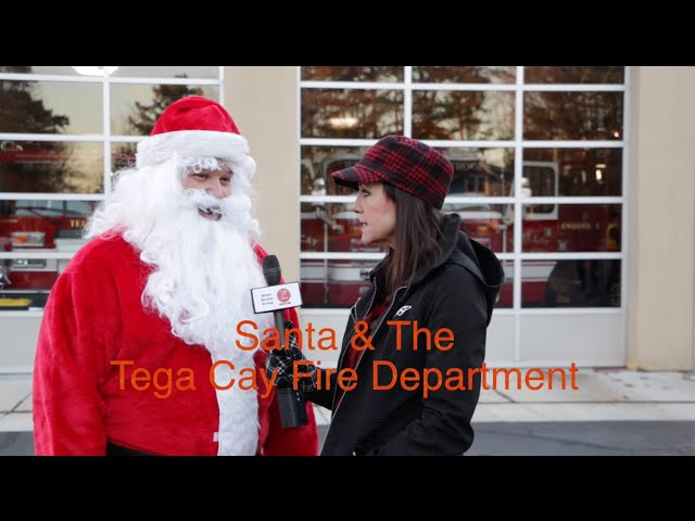 Santa Rides On A Tega Cay Fire Truck