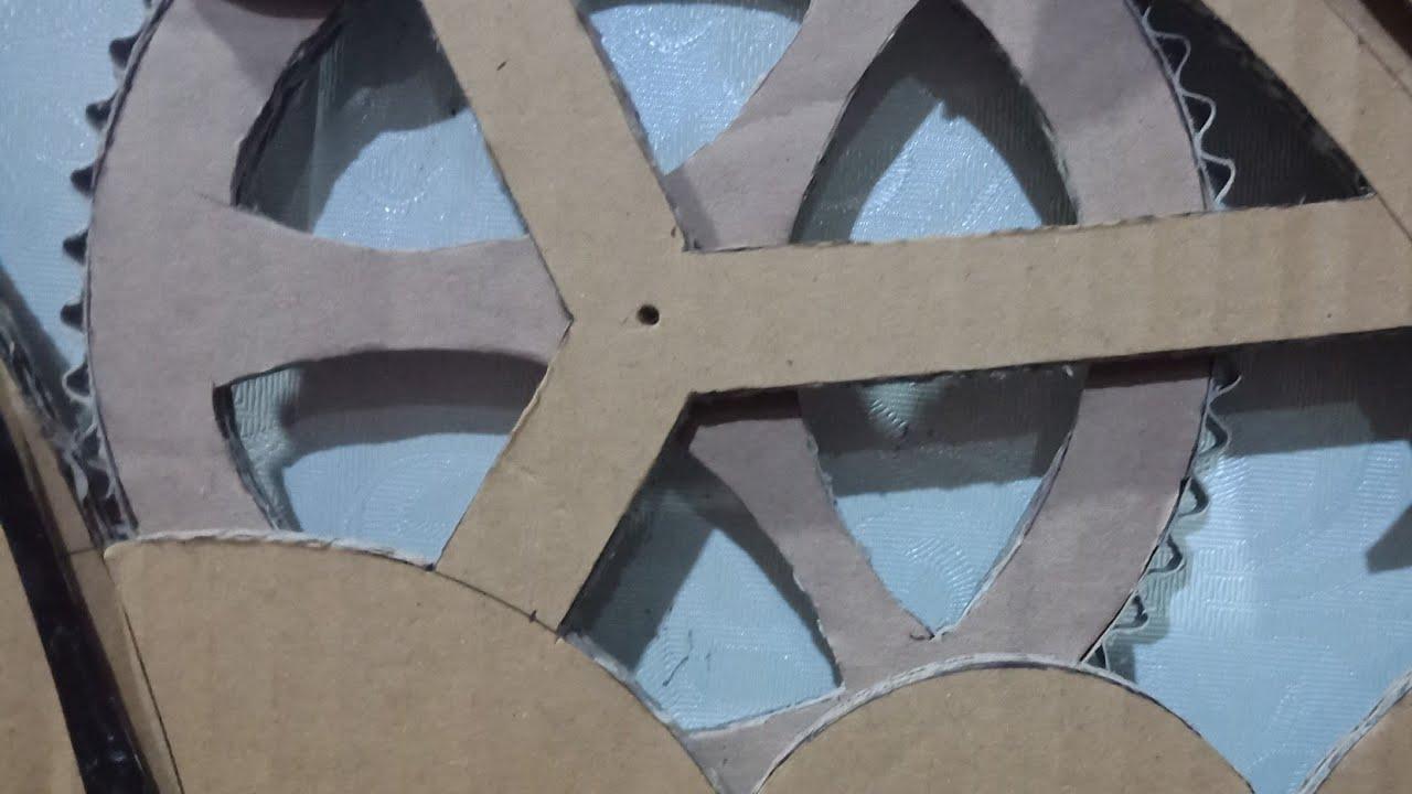 cara membuat jam dinding keren dari kardus bekas - YouTube