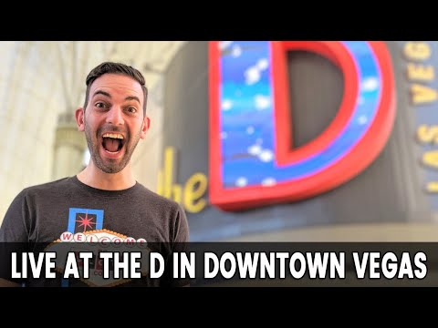 🔴 LIVE At The D CASINO 🎰 Downtown Las Vegas 🍹🥂🍻
