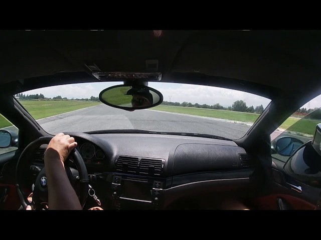 Coaching session of George in our M3 with the instructor at his side, Track-speed.com