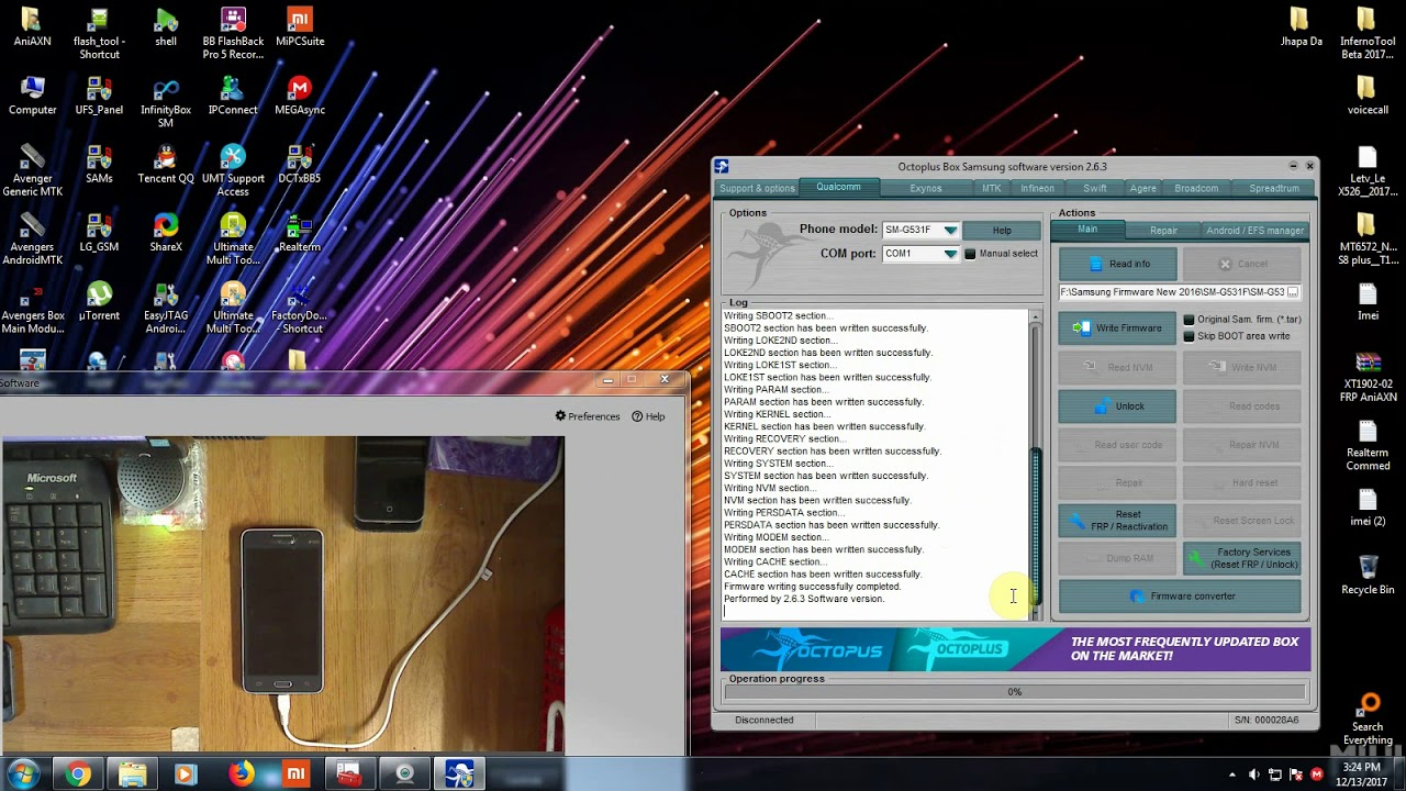 Samsung SM G531F FRP Reset Done !! Octopus Box - YouTube