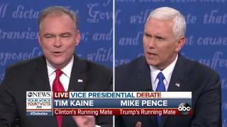 VP Debate Full Highlights | Trump & Clinton's Trustworthiness, Likeability