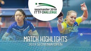 Маргарита Песоцкая vs Zhang Lily | Slovenia Open 2019 (1/4)