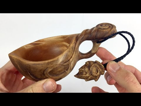 Evish coffee cup wood carving | kuksa carving