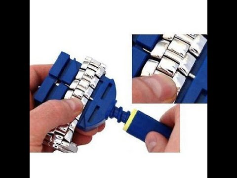 Watch Band Link Remover Bracelet Strap Adjuster Repairing Tool Hammer Unboxing