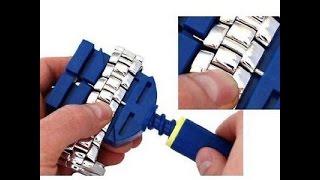 watch band link remover bracelet strap adjuster repairing tool hammer   unboxing