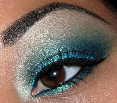 shimmery turquoise blue tutorial