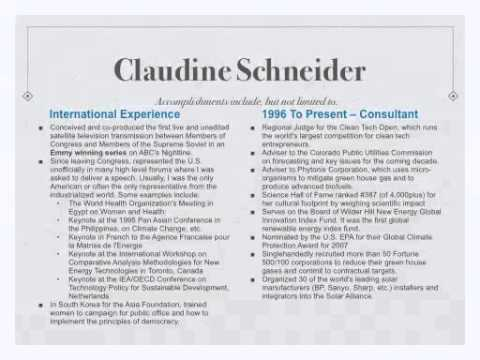 Claudine Schneider Presentation to Moxie Exchange Movement Members on 25 October 2012