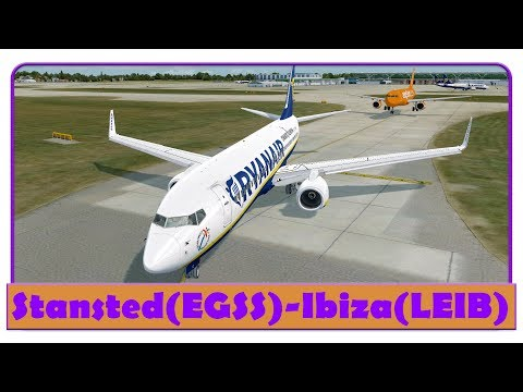[P3D] RYR8UZ | Stansted-Ibiza | IBIZA OPENING PARTIES EVENT